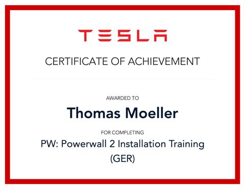 Tesla Ccertificate of achievement Zertifikat.jpg